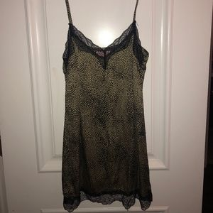 Silk Slip Dress w/ Lace detail